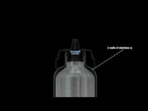 Video showcasing the Ecococoon stainless steel, insulated bottles. littlemodern.com