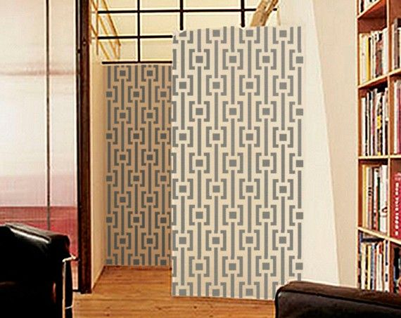 Geometric Wall STENCIL - MOD Pattern -Large, Reusable ...