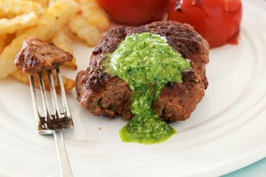 Sausage patties with fried tomatoes