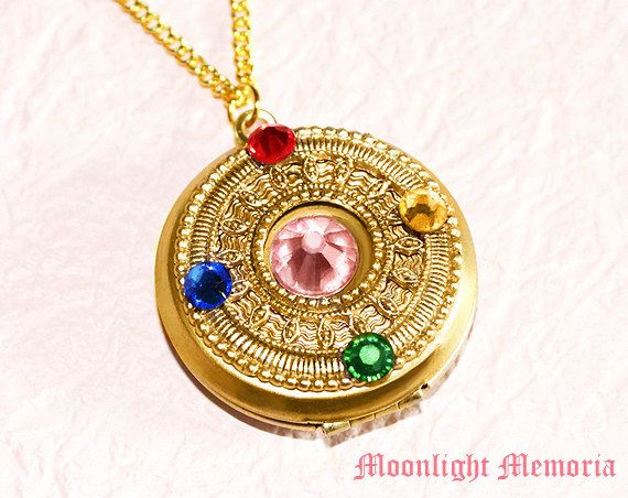 Sailor Moon Locket Necklace OPENABLE Sailor by MoonlightMemoria, $45.00