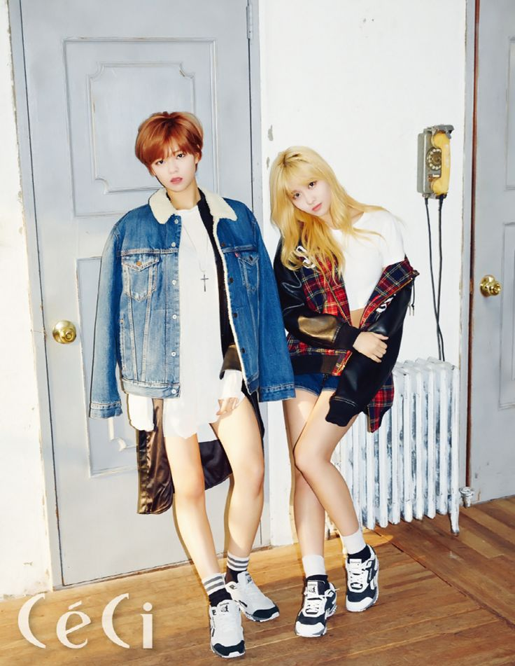 Jeongyeon & Momo  (TWICE) - Céci Magazine December Issue '15
