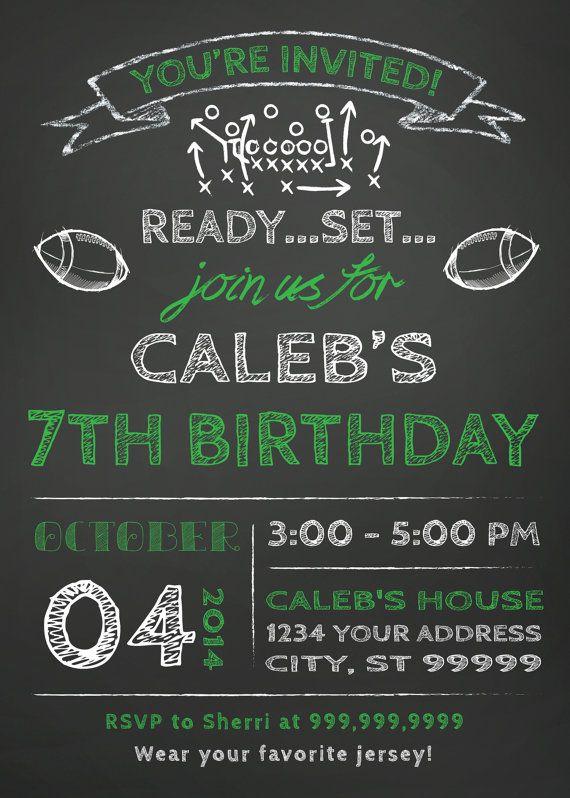 Invitación de la fiesta de cumpleaños de fútbol por SLDESIGNTEAM
