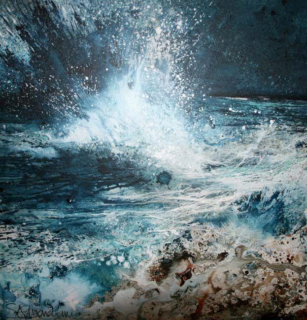 Stewart Edmondson | 'You are Everywhere' Acrylic on Paper 30 x 30 cm