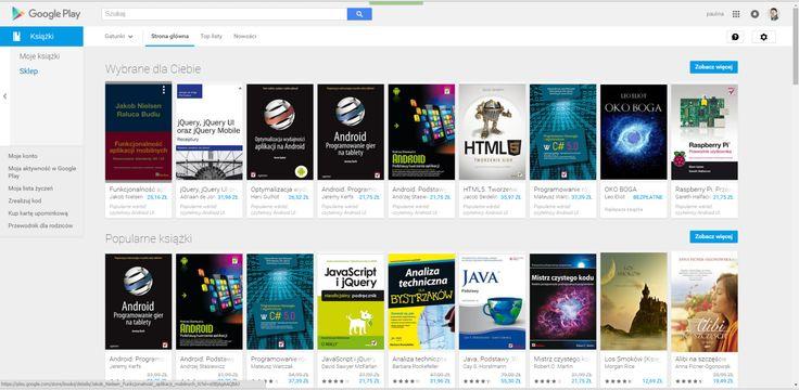 Ksiażki / oje ksiazki / sklep / moje konto/ moja aktywność w google play/ moja lista życzeń / zrealizuj kod/ kup kartę upominkwoą / przewodnik dla rodziców / gatunki ksiązek / strona główna / top listy / nowości / wybrane dla ciebie / popularne książki / top listy / Nowości / wyszukaj / zobacz więcej /
