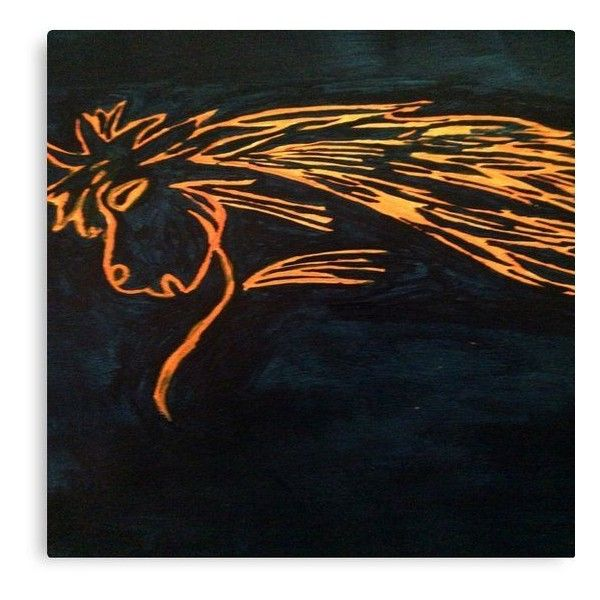 Beautiful Bronco Horse Painting Abstract Acrylic Team Colors found on Polyvore
