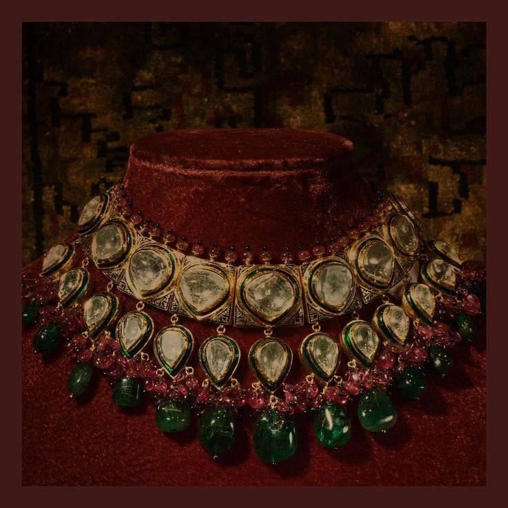"Sabyasachi Mukherjee ""Jewellery inspired by the hedonism of the fabled Nizams of Hyderabad. Large uncut Diamonds woven…"""