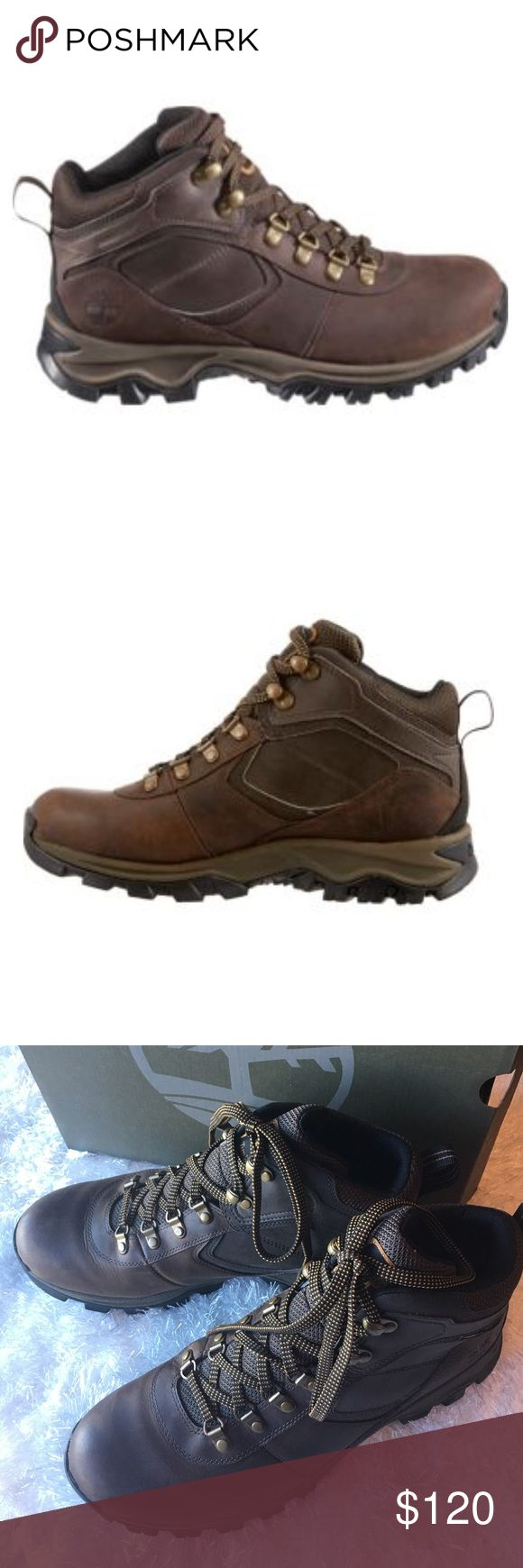TIMBERLAND MEN'S EARTHKEEPERS BOOTS Brown 100% waterproof leather Timberland Earthkeepers Mr. Maddsen hiking boots. Worn two days, some minor scuffs, as pictured, can be buffed with leather polish. Timberland Shoes Rain & Snow Boots