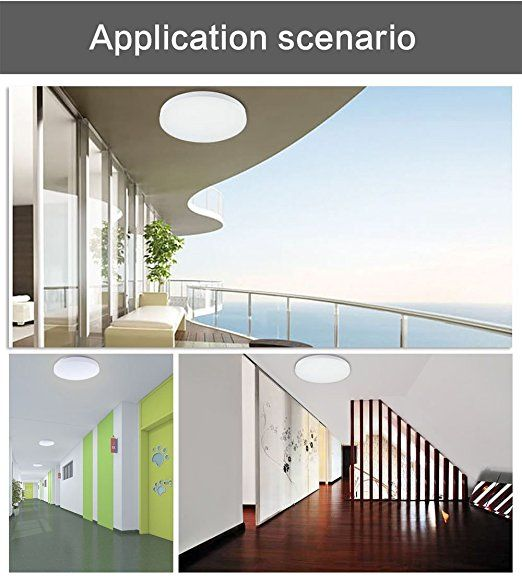 12W 10 Inch LED Flush Mount Ceiling Light Fitting For Living Room Bathroom
