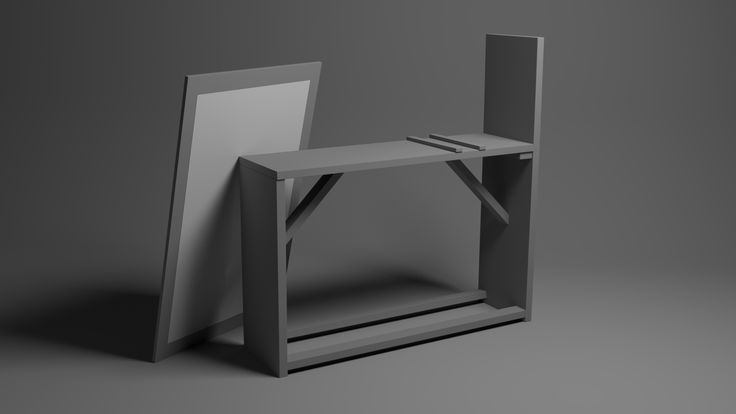 Artists Drawing Bench. Modeled in Maya, rendered in Arnold