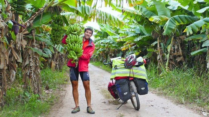 CAs Adventure | Dentist hits pause on life to bike 19,000 miles through San Diego, far beyond - German dentist Nikolas Goedicke, 29, passed a banana plantation in northwest Argentina during a 19,000-mile, 21-month bike ride from Argentina to Alaska.
