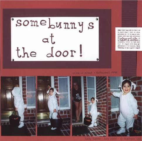 #TBT Somebunny's at the Door! I scrapped this layout in 2006. =)