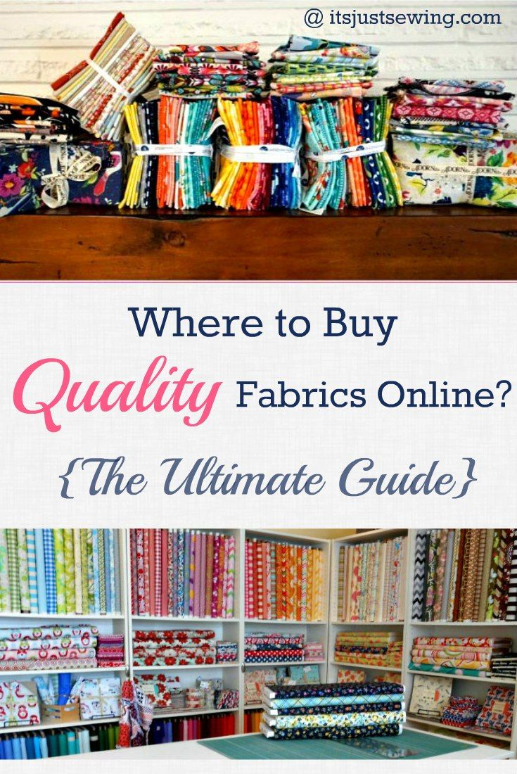 Where to Buy Quality Fabric Online, The Ultimate Guide! - It's Just Sewing