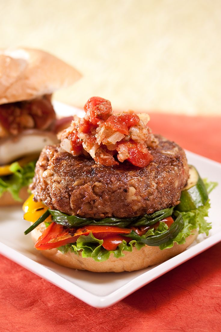 Nutty Lentil Burgers #vegetarian | Meatless Meals ...