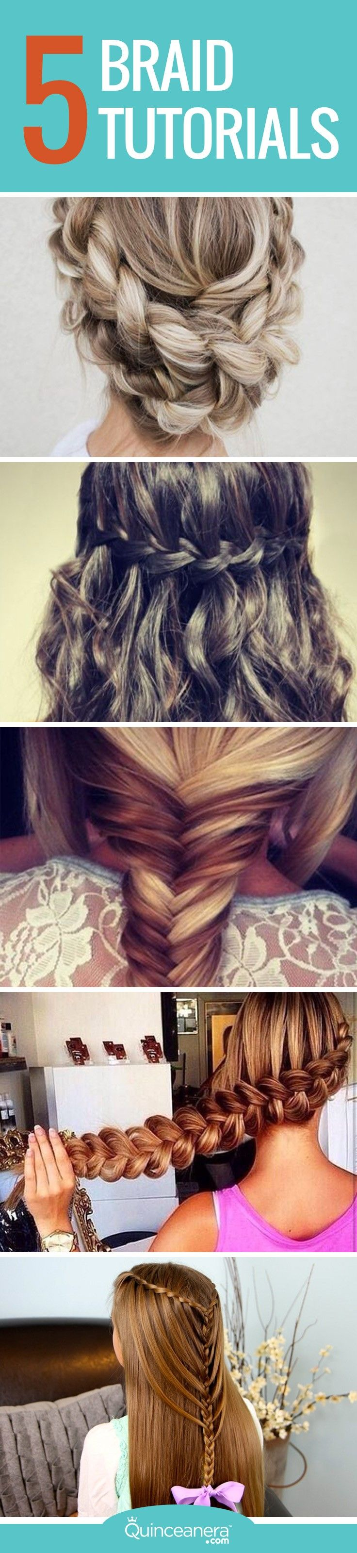 Watch the following step-by-step braid tutorials and give yourself a mini hair makeover to complement your next head turning outfit! - See more at: http://www.quinceanera.com/hair-styles/braid-tutorials-spice-up-next-hairstyle/?utm_source=pinterest&utm_medium=social&utm_campaign=article-022716-hair-styles-braid-tutorials-spice-up-next-hairstyle#sthash.neKKFsu6.dpuf