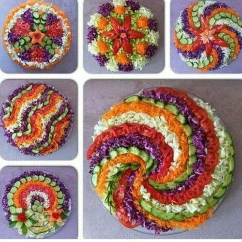 Decorative veggie tray