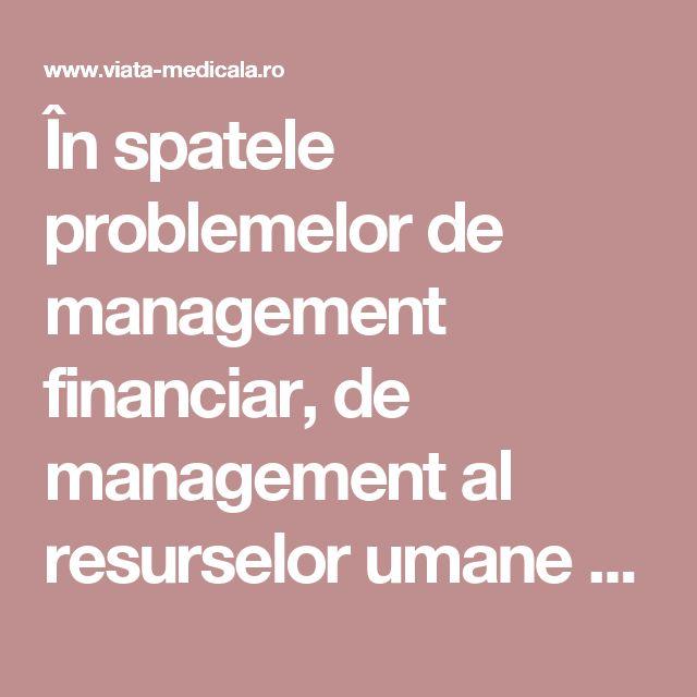 În spatele problemelor de management financiar, de management al resurselor umane sau de management al calității, care se cunosc și sunt abordabile, stă dosită și omniprezentă o problemă mai perversă decât toate: una de management al adevărului. Cunoașterea, recunoașterea, admiterea și comunicarea adevărului sunt sporadice la nivel individual și complet străine la nivel de sistem.