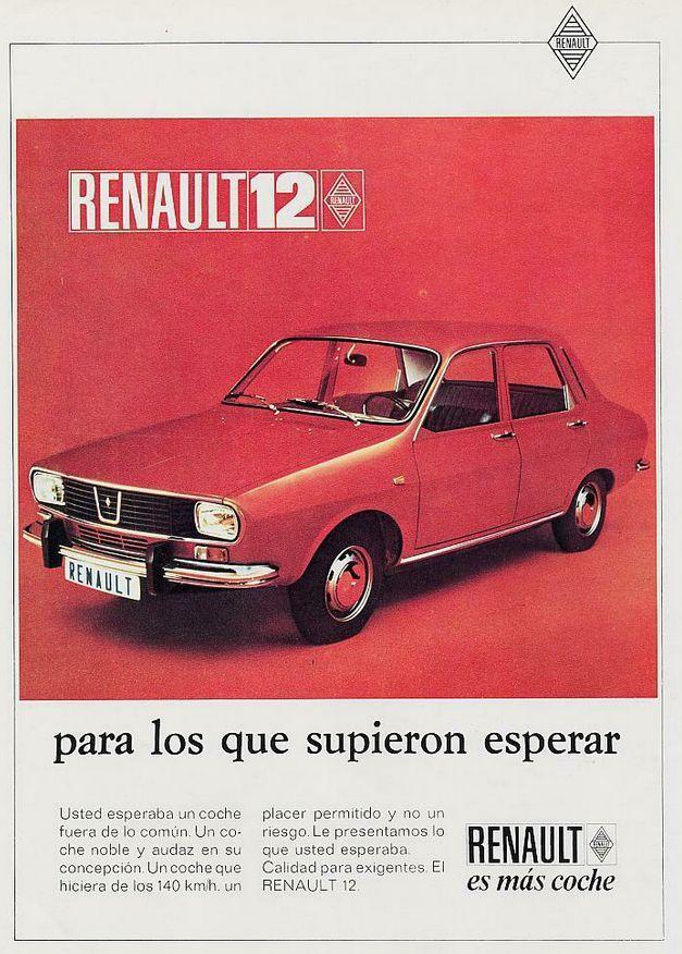 Anuncios Retro : Renault 12, mi tercer coche y en rojo. ¡ Que tiempos aquellos ¡ Con 21 añitos, te las llevabas a todas de calle