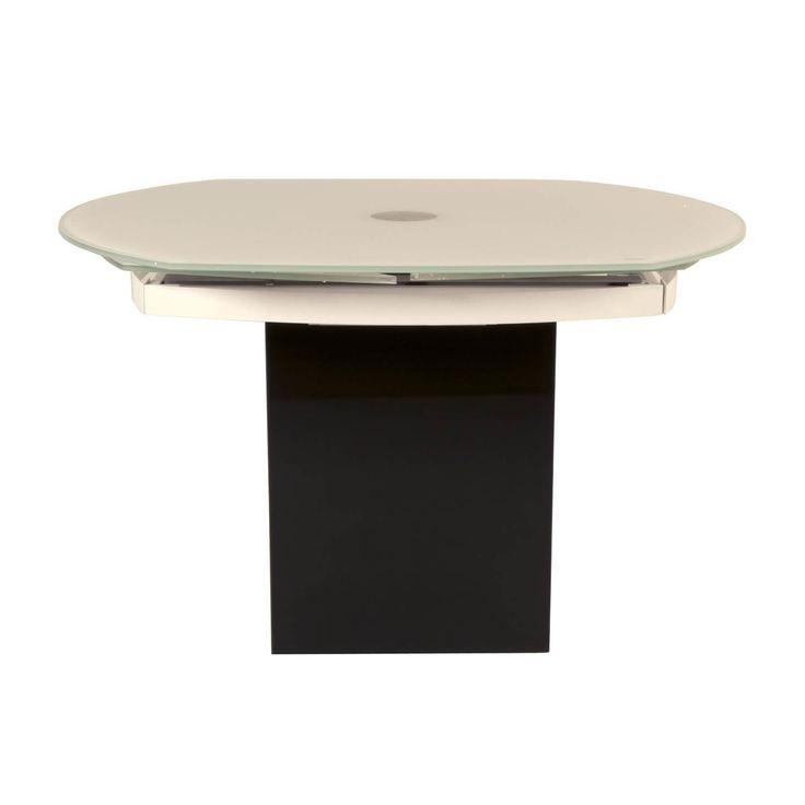 Modern Life Connor Black Granite Glass Extension Dining Table (Black Granite)