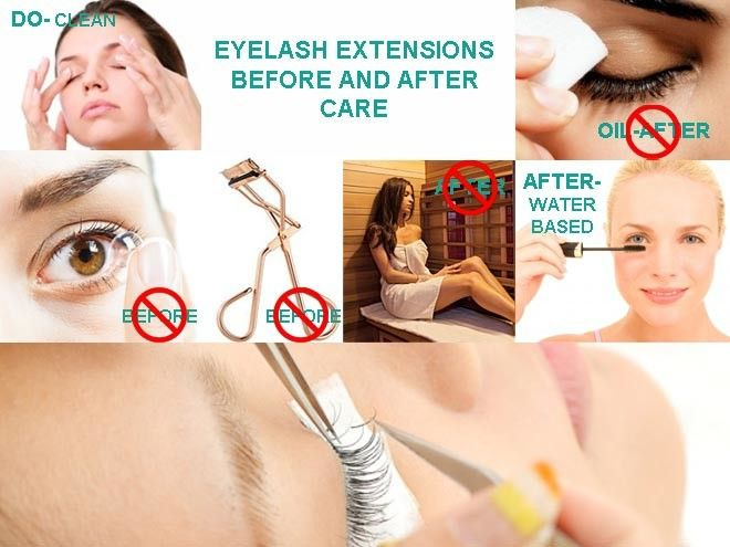 Learn what to do and what NOT to do regarding your eyelash extensions care, from removing your makeup before lash extensions application to cleaning false eyelashes after. Also, find out which eye makeup products to use or avoid before and after application, as to have longer lasting semi-permanent lashes!