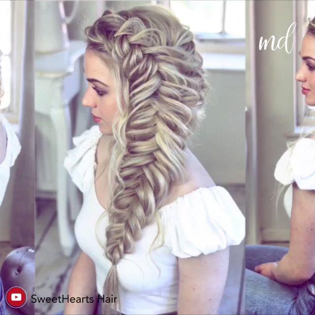 Learn how to create a big fishtail braid for a dramatic look! #braidsforlonghair