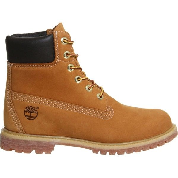 "Timberland Premium 6"""" boot ($180) ❤ liked on Polyvore featuring shoes, boots, rubber sole boots, real leather boots, long leather boots, leather boots and timberland shoes"