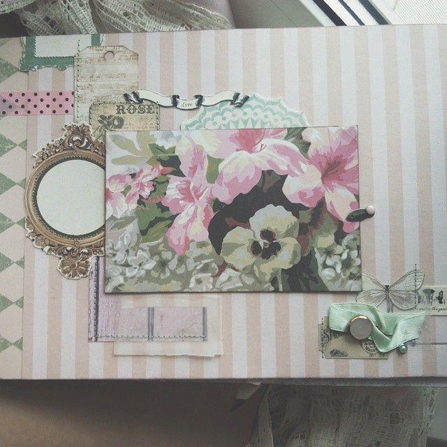 Страница из дамского #альбом а Ваниль-не моя специфика, но тут спец заказ для истинной барышни #дляподруги.Формат А4,5 оформленных разворотов #альбом #подруге #розовый #pink #скрапальбом #handmade #ручнаяработа #скрапбукинг #scrapbooking #scrap #скрап #album #дляфото #flowers #цветы #альбомдляфотографий #подарок #назаказ #альбомназаказ #instahandmade #craft #instababushka #by_victorious_viktoria #vsco #vscocam  By @victorious_viktoria