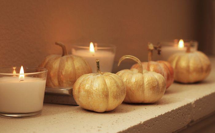 Painted Glitter Pumpkins - A simple craft tutorial for fall & Halloween.