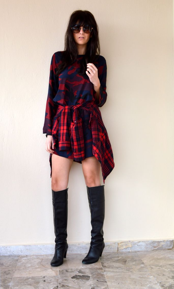 New post on http://thevirgostyle.blogspot.gr #thevirgostyle #blog #greece #greek #blogger #army #dress #plaid #red #fashion #style