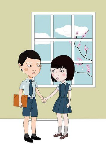 """Tengo & Aomame, from """"1Q84"""""""