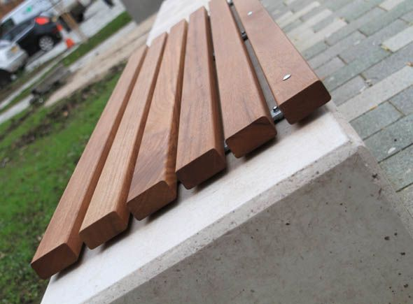 The Andes Bench Is Manufactured From Concrete Amp Timber