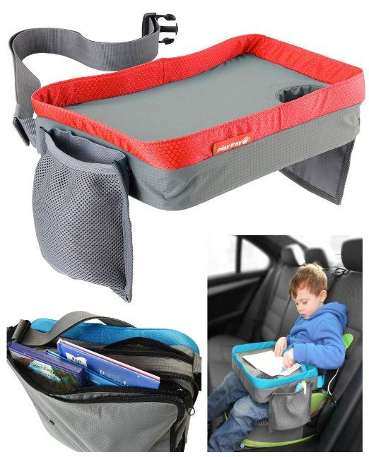 Amazon.com : Kids Travel Play Tray - Childrens Car Seat Buggy Pushchair Lap Tray (Red) : Child Safety Car Seat Accessories : Baby