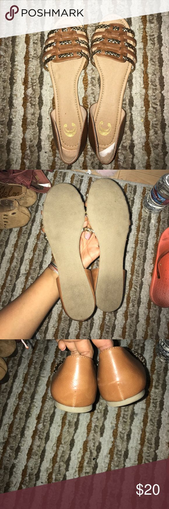 Open toes flats for sale! Worn once for an hour :) Shoes Flats & Loafers