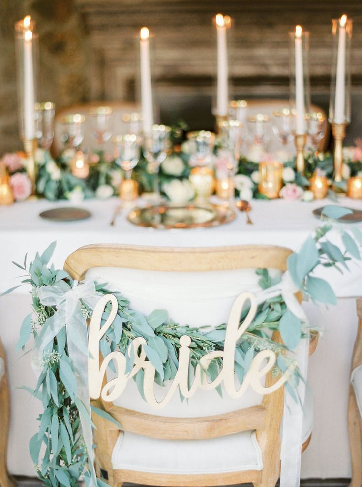 4389 best wedding decor images on pinterest wedding decor wedding brides seat decorated with garland and gold signage photography cablookphotolab junglespirit Images