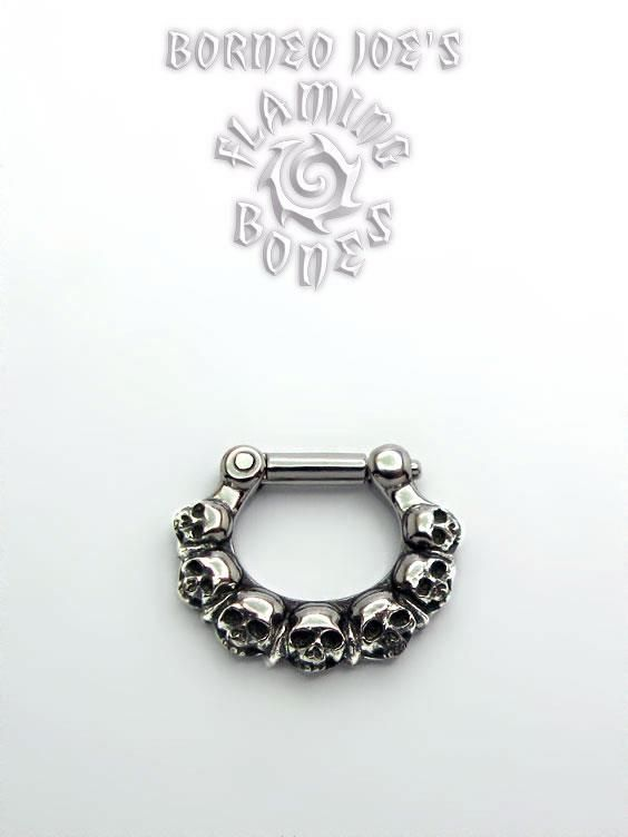 """""""Ancient Ruins"""" septum clicker by Flaming Bones.  Want in brass...."""