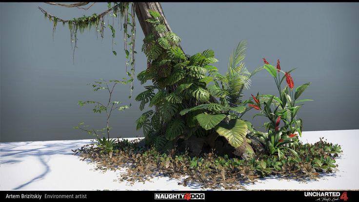 Artem Brizitskiy: Master of Digital Foliage Artem Brizitskiy has uploaded a bunch of fantastic 3d art he did for Uncharted 4, including some amazing digital foliage.
