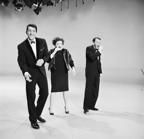 Dean Martin cracks up Judy Garland and Frank Sinatra in rehearsal for The Judy Garland Show, 1962