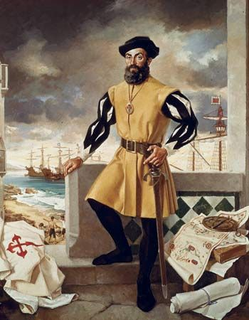Ferdinand Magellan, a Portuguese noble, set out from Spain with five ships and a crew filled with men from Africa, Europe, and Southeast Asia. The fleet reached the coast of South America and they searched for a bay that would lead to the Pacific. In 1520, his ships entered a bay at the southern tip of South America. Ignoring the weather, Magellan charted a passage known as the Strait of Magellan. The ships emerged from here into the 'South Sea', which he renamed the Pacific Ocean.