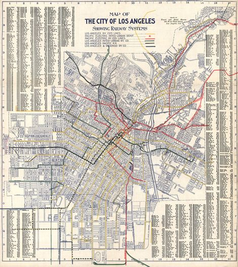 Unearthed 1906 Map Shows Transit System LA Abandoned