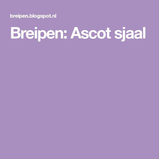Breipen: Ascot sjaal