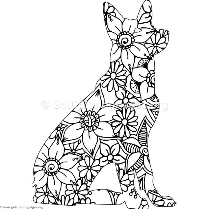 Download For Free Zentangle Dog Coloring Pages Coloring