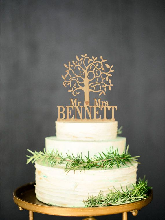 Wooden cake topper Mr Mrs Rustic Cake Topper от WeddingRusticDeco Price - $22