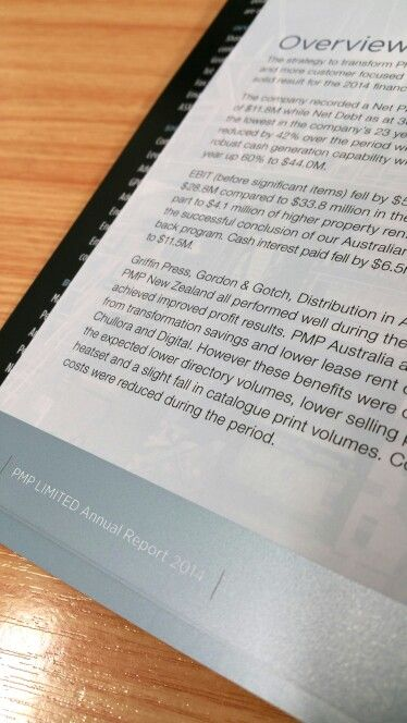 PMP Limited Annual Report 2014