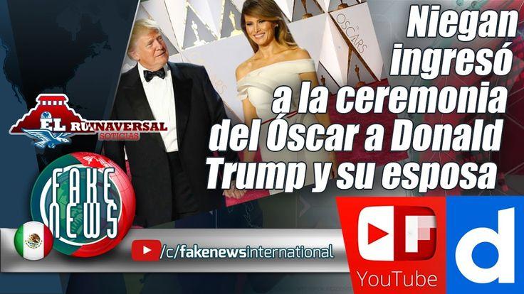Niegan ingresó a la ceremonia del Óscar a Donald Trump y su esposa