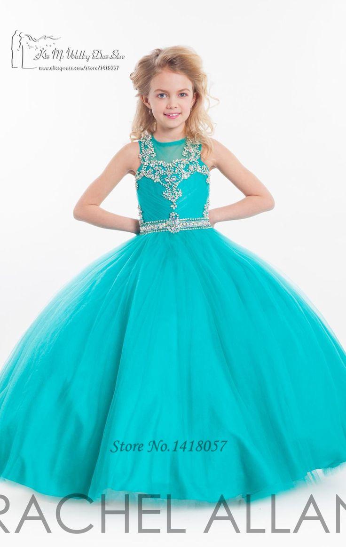 Fushcia-turquesa-Pageant-Girls-Vestidos-para-bodas-dama-de-honor-Junior-Vestidos-de-Primera-Comunion-ni&ntilde (949×1500)