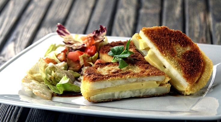 Smażony seler z serem