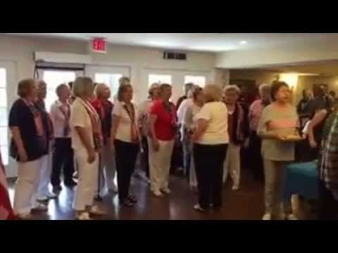 The Decibelles singing group at the Stars and Stripes BBQ.