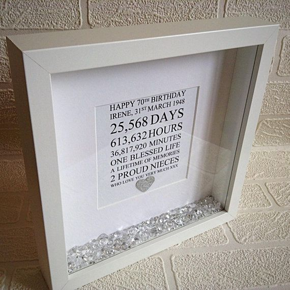 50th Birthday Gift Personalised Frame 21st 30th 40th 60th 70th 80th Present For Mum Daughter Nan Wedding Engagement