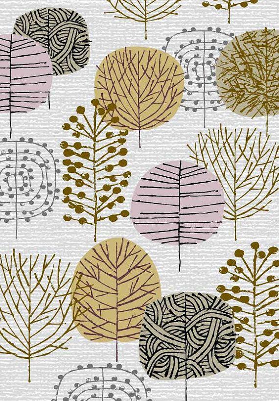 Piccoli alberi invernali, limited edition giclee stampa