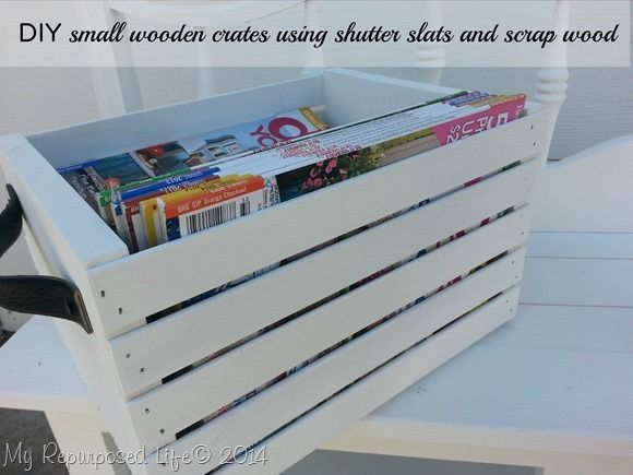 How to make small wooden crates out of shutter slats and scrap wood