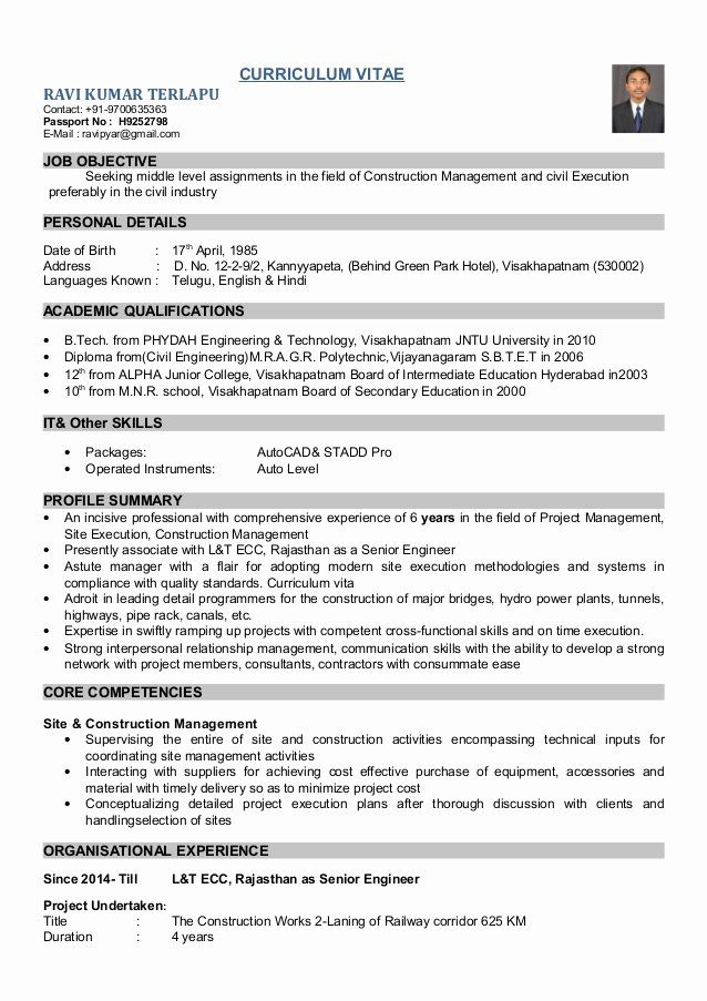 Resume Format For Railway Job Huroncountychamber Com